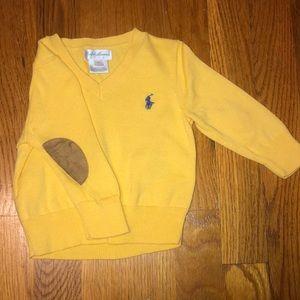 Ralph Lauren brown suede elbow path sweater